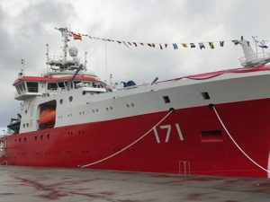 DURING THE DELIVERY OF BAP CARRASCO AT FREIRE SHIPYARD