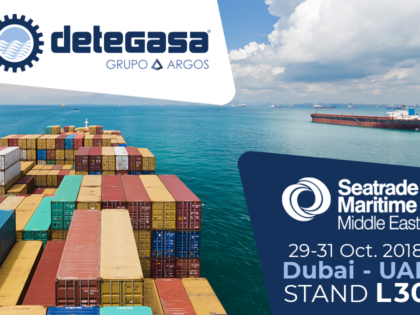 Detegasa will be present once again at Seatrade Maritime East in 2018